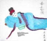 宋金瞳 10岁 学画两年